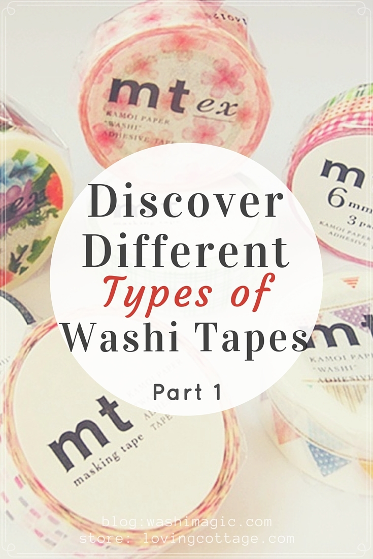Discover different types of washi tapes part 1