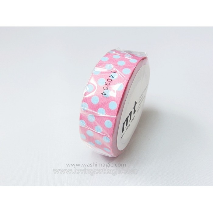 blue-dots-on-pink-masking-tape