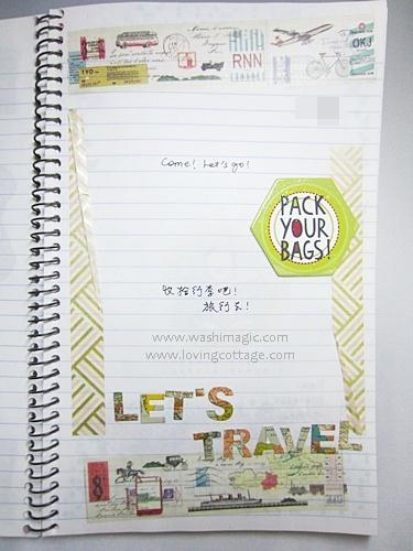 Travel themed mt washi tape