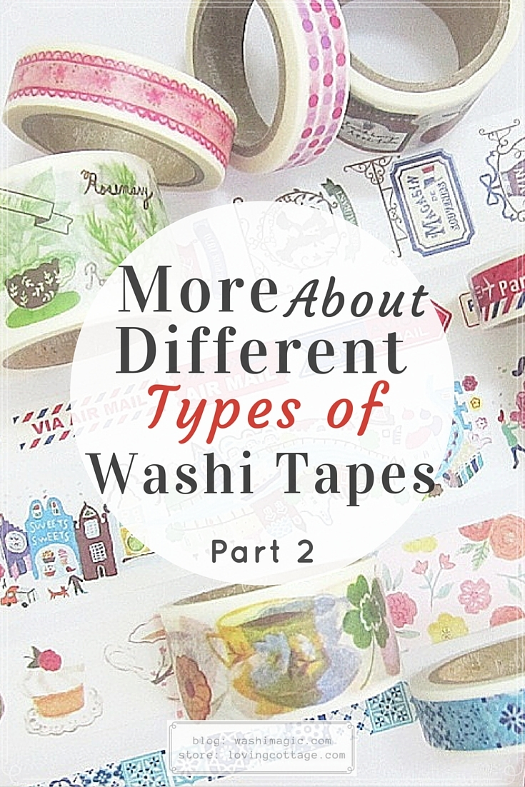 More about various types of washi tapes part 2