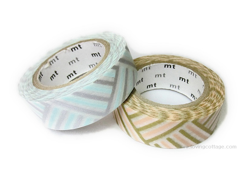 Blue and peach mt tapes