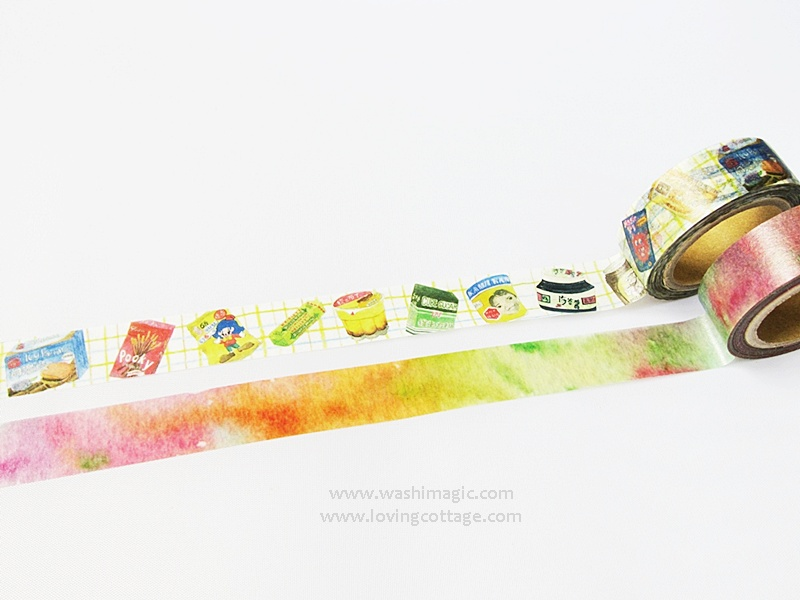 Food and watercolor painting tapes
