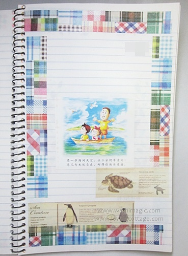 Patchwork and sea creature journal