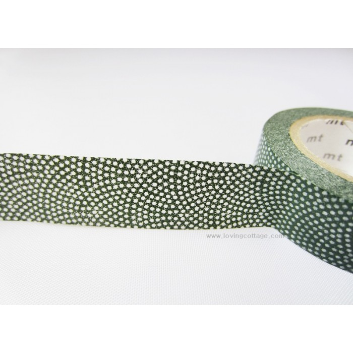 Dots dark green tape