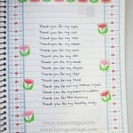 Striking floral page