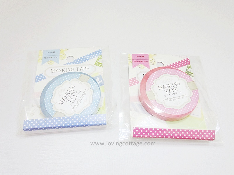 Amifa blue and pink washi tape set