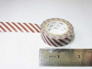 Brown stripes washi tape