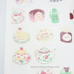 Full view of tea and cake pink deco tape from Aimez le style | Washimagic.com