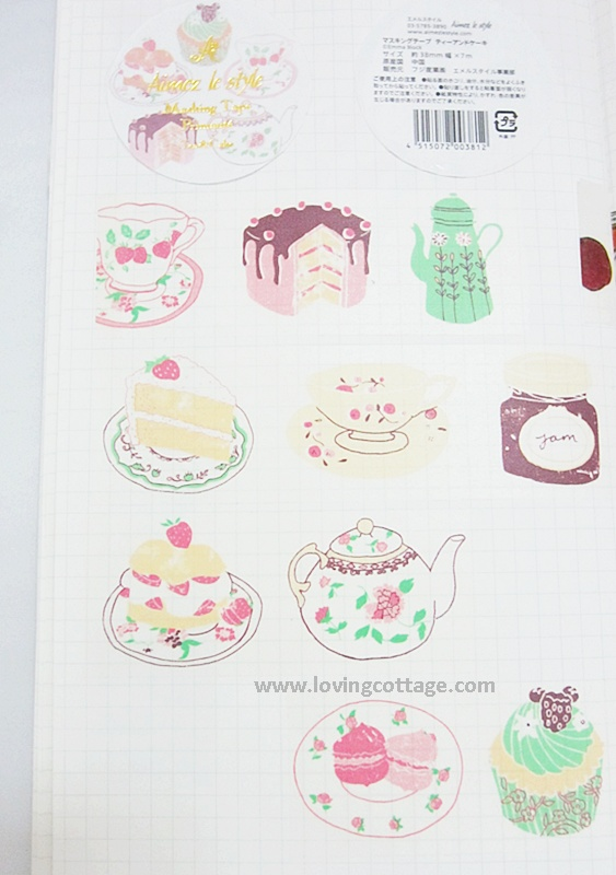 Full view of tea and cake pink deco tape