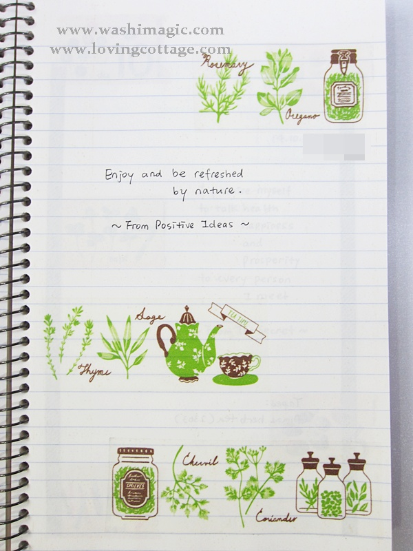 Green masking tape daily journal