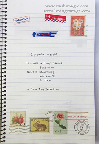 Journal about stamp and airmail sticker