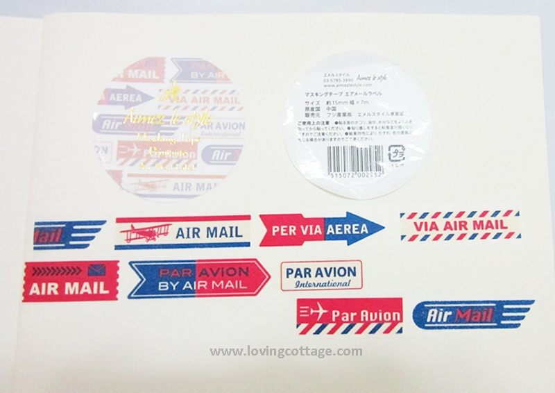 Special airmal label washi tape