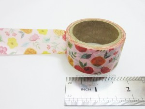 Washi tape flowers in pink