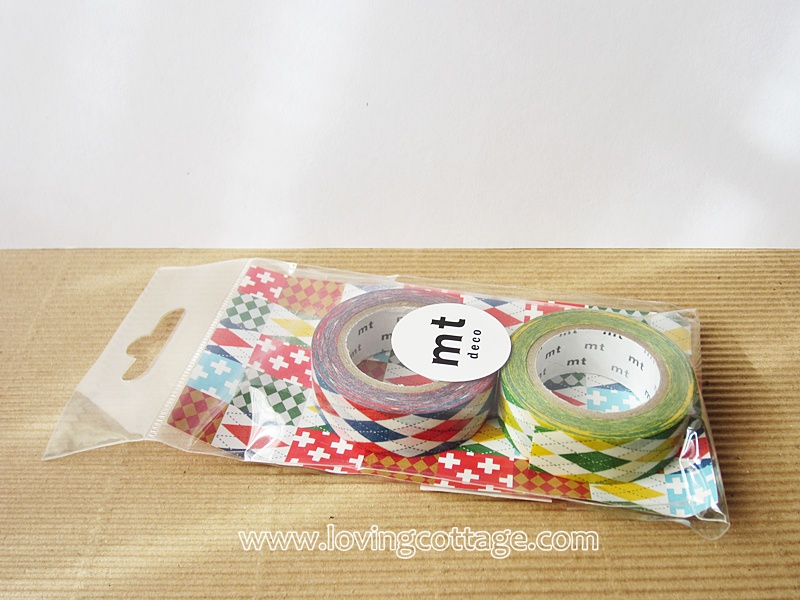 Red and green washi tape in set