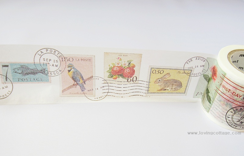 Postage stamp stickers