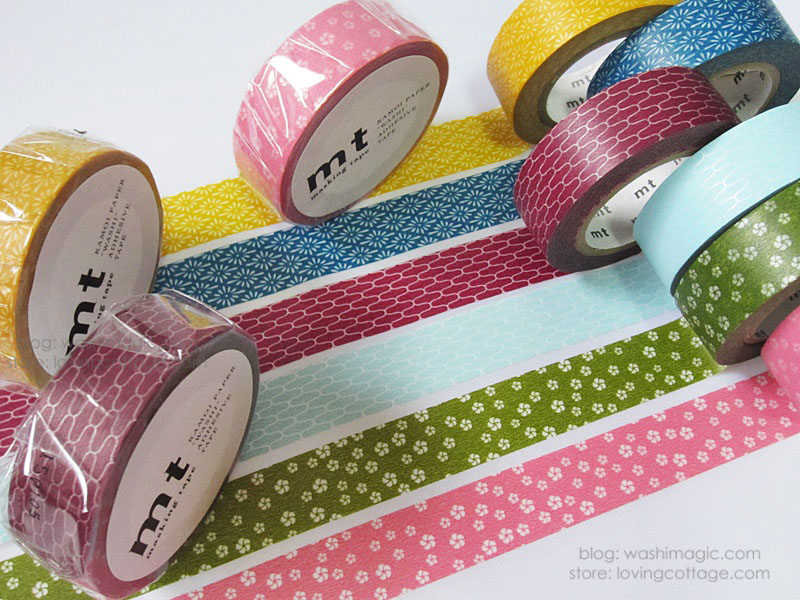 Japanese style washi tape wamon set