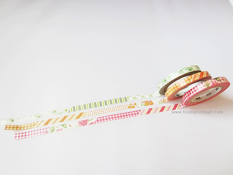 Unique slim green washi tape