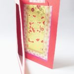 Inside look - Chinese New Year handmade greeting card | Washimagic.com