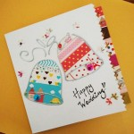 Washi tape happy wedding card