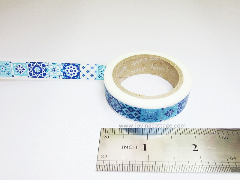 Blue Morocco tile masking tape by Aimez le style