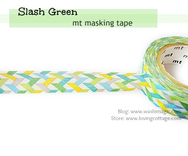 Green masking tape from mt
