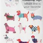 Aimez le style pet dogs masking tape