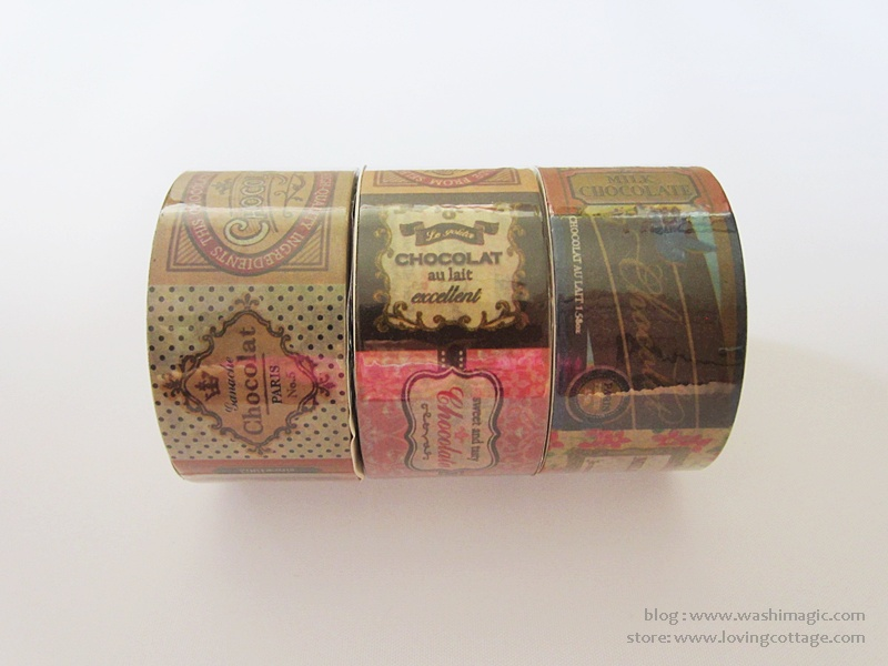 Chocolate masking tape from Daiso Japan