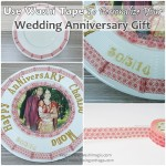 Unique washi tape wedding anniversary gift