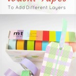 Use washi tapes to add layers for your bookmarks