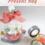 Use masking tapes to beautify transparent present bag