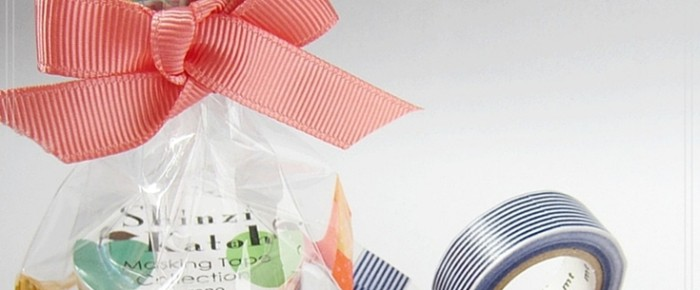 How To Use Masking Tapes To Beautify Transparent Present Bag?