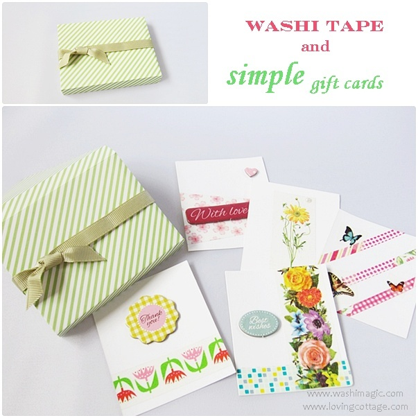 Simple assorted handmade gift cards