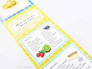 Japanese masking tape all about food and recipe