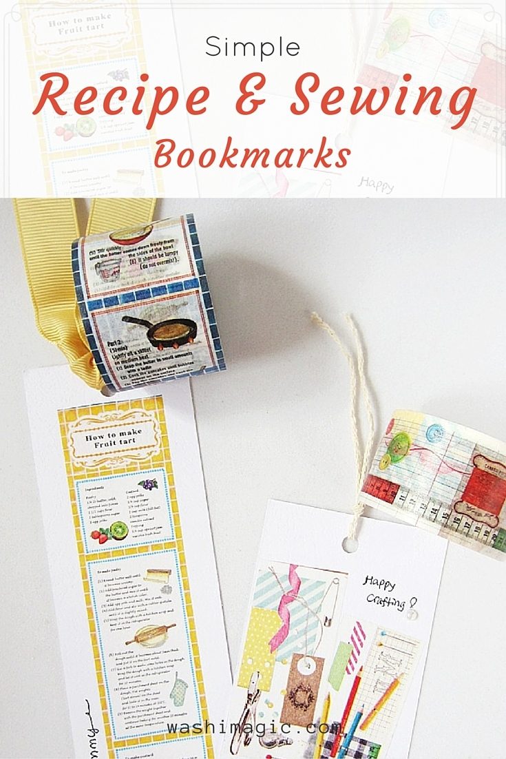 Simple recipe and sewing bookmarks