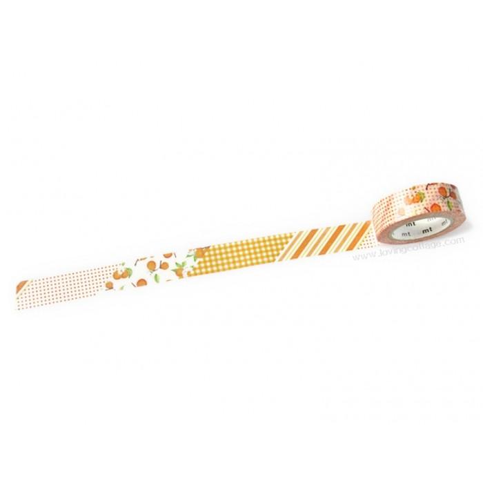 mt ex flower orange washi tape