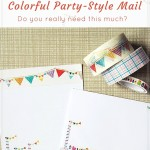 Snail mail project 2 colorful party style letter