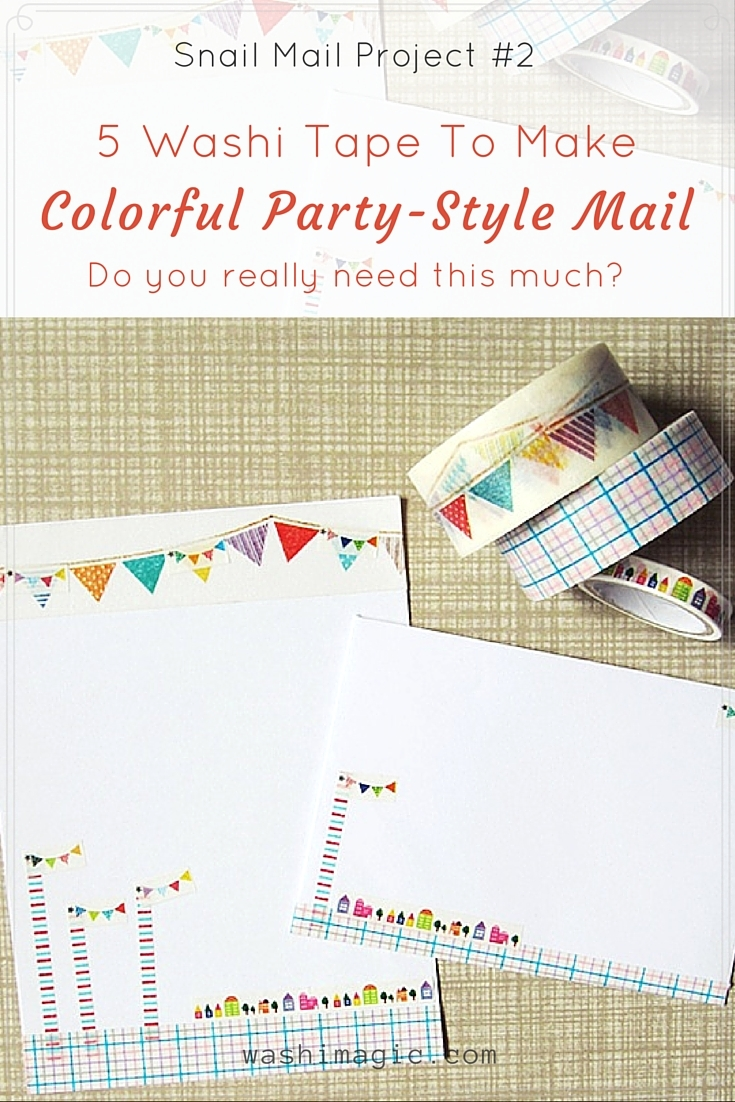 5 washi tapes to decorate snail mail