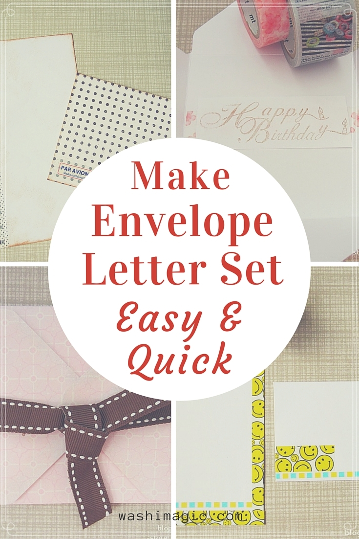Make envelope letter set easy and quick