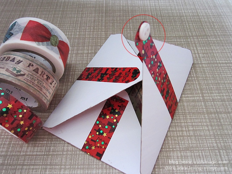 How to add button on the Christmas envelope