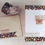 Christmas ornament washi tape envelope and letter