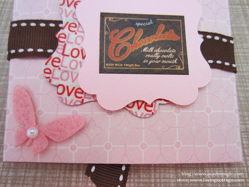 Handmade pink envelope