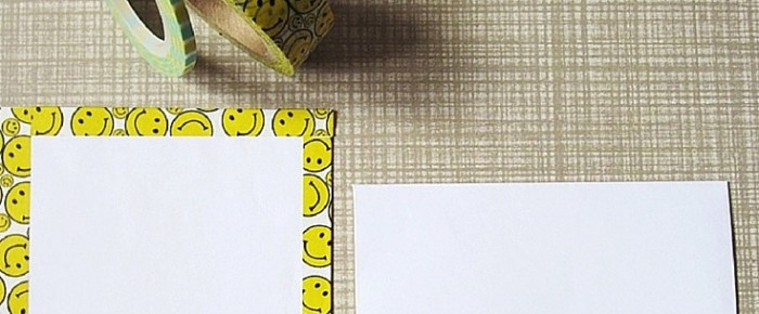 Snail Mail Project #8: Cute Smiley Faces Washi Tape Envelope And Letter