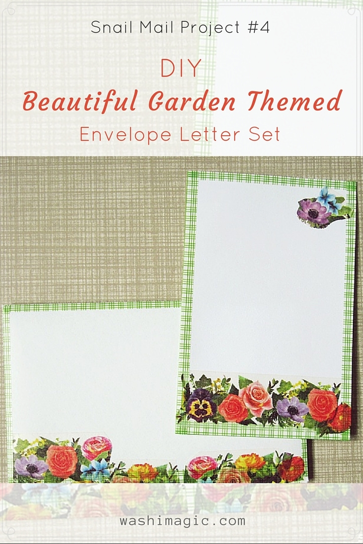 DIY garden themed envelope letter set