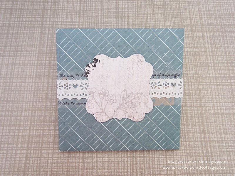 Lace tape envelope design