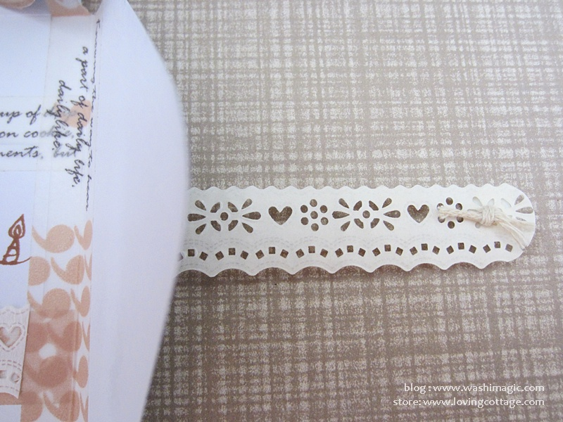 Lace tape close-up shot