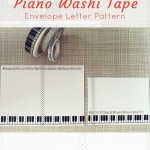 Piano washi tape envelope letter pattern