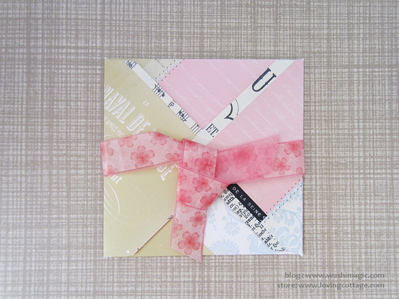 Add washi tape to the ribbon to make a different design