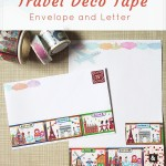 Travel deco tape envelope and letter