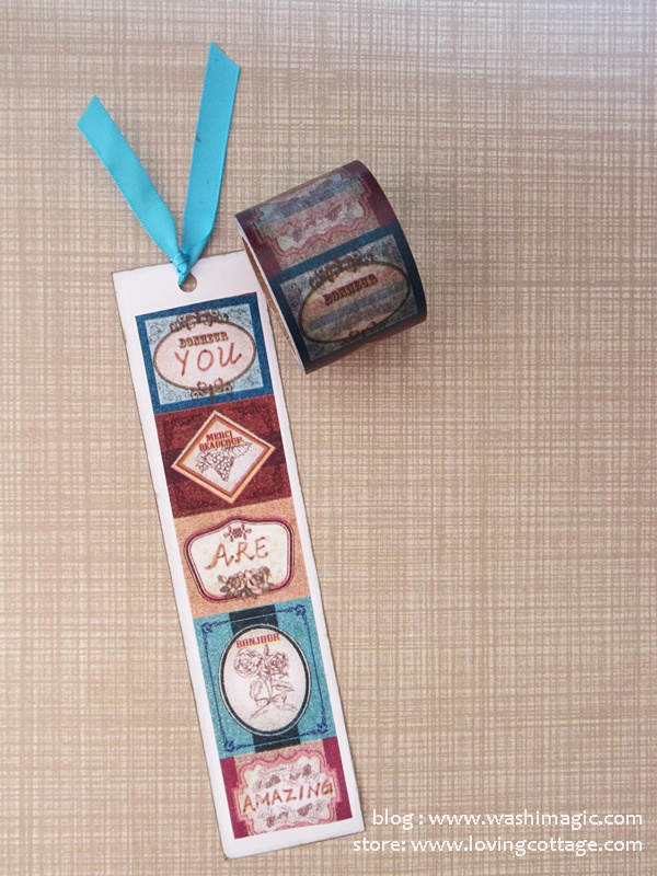 Vintage label on white paper