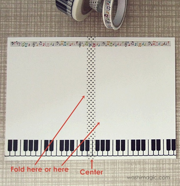 Piano keys masking tape